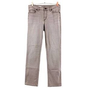 Lands' End Woman's 10 Grey Straight Jeans